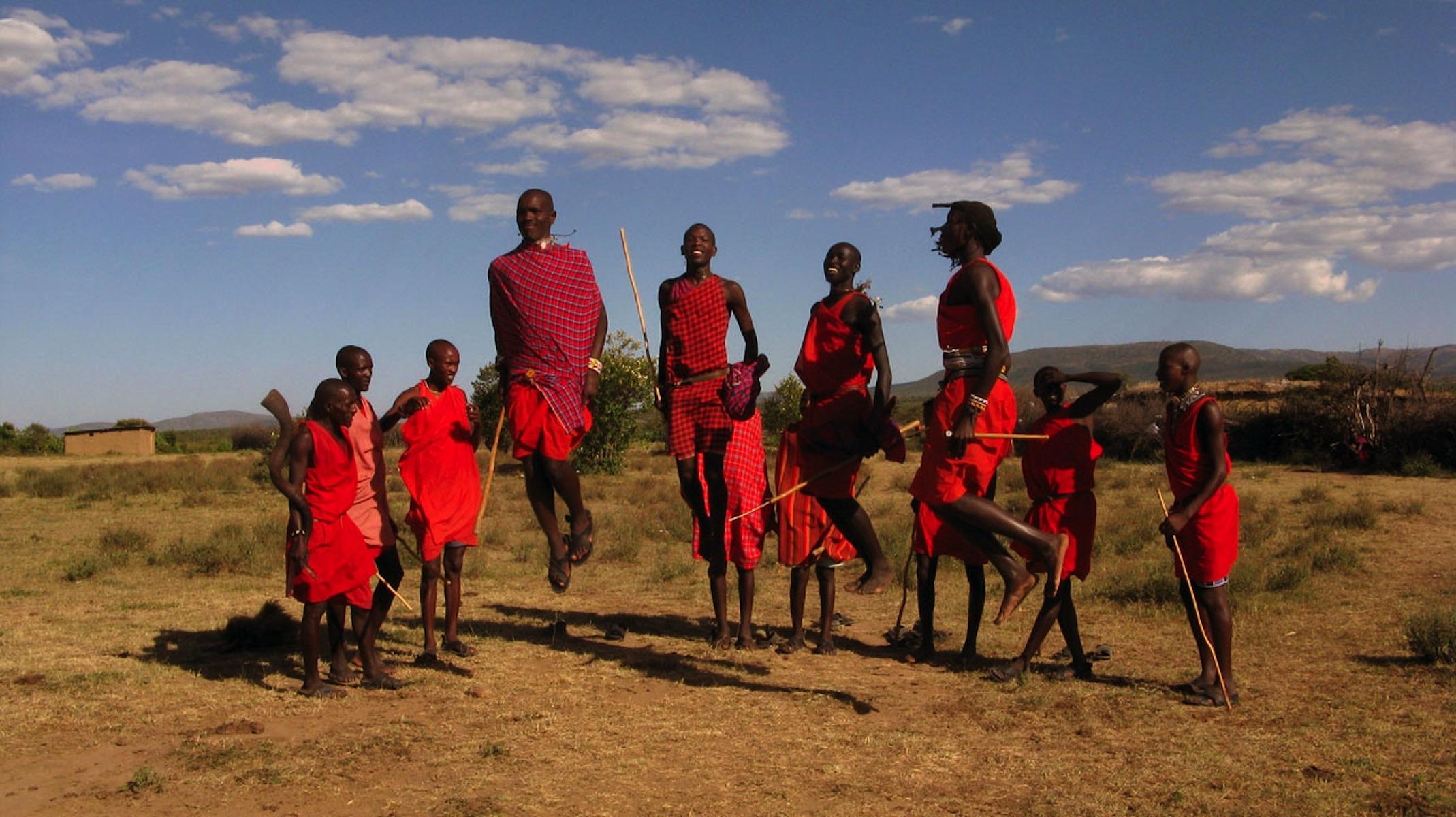 saut légendaire des Masai